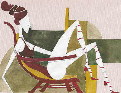 Art Print featuring the painting Red Shoes by Maya Manolova