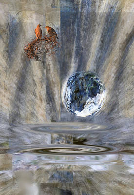 Digital Art - Red Shouldered Hawks - Death And Destruction by rd Erickson