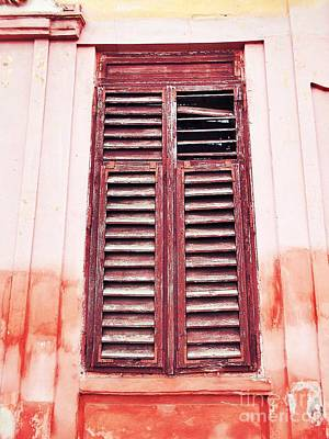 Photograph - Red Shutters by Erika H