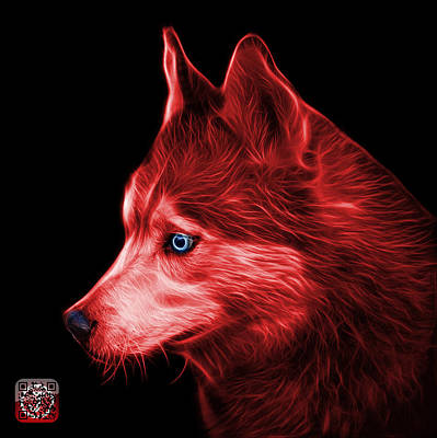 Painting - Red Siberian Husky Art - 6048 - Bb by James Ahn