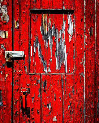 Photograph - Red Side Barn Door by Bob Orsillo