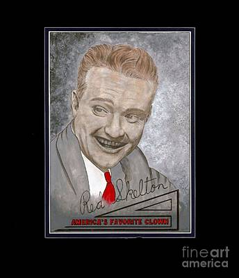 Red Skelton Painting - Red Skelton by Herb Strobino