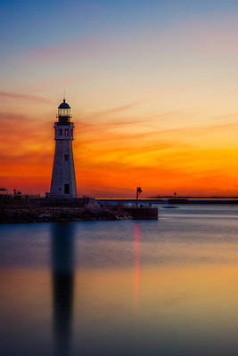 Photograph - Red Skies At Night by Chris Bordeleau