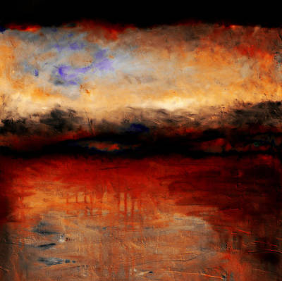 Red Skies At Night Art Print by Michelle Calkins