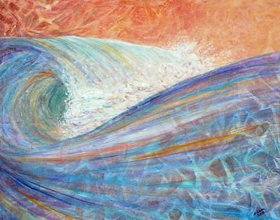 Red Skies In Morning Art Print by Arlissa Vaughn
