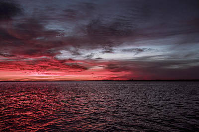 River Photograph - Red Skies by Michael Frizzell