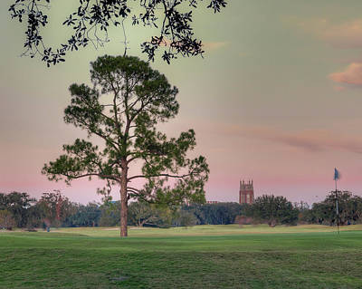 Comedian Drawings - Red Skies over Audubon Park by Ray Devlin