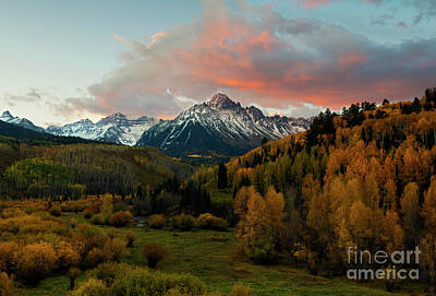 Photograph - Red Skies Over The Sneffels by Mike Dawson