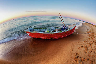 Photograph - Red Skiff by Pete Federico