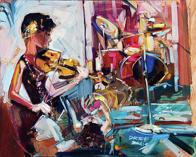 Painting - Red Skunk Gypsies by Drew Davis