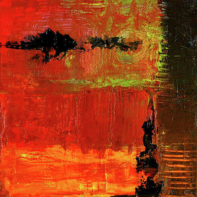 Painting - Red Sky Abstract by Nancy Merkle