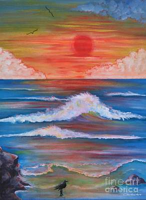 Painting - Red Sky At Dawning by Jean Clarke