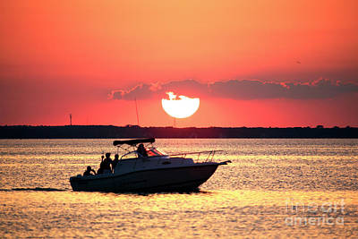 Photograph - Red Sky At Long Beach Island by John Rizzuto