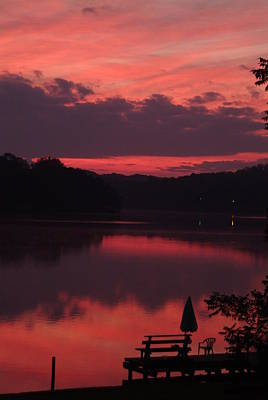 Red Sky At Morning---3 Art Print by Rich Caperton