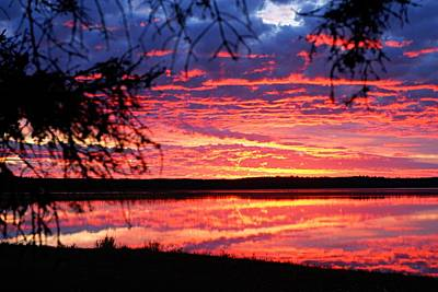 Photograph - Red Sky At Morning by Larry Ricker