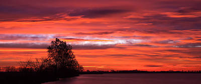 Arkansas Photograph - Red Sky At Morning Pano by James Barber