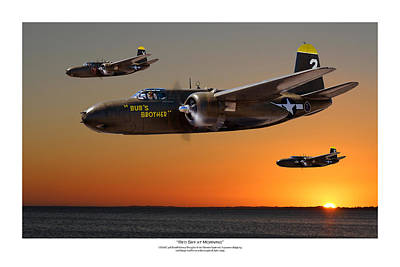 Red Sky At Morning - Titled Usaaf 3bg Version Art Print