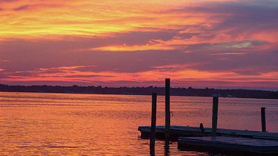 Photograph - Red Sky At Night by B Wayne Mullins
