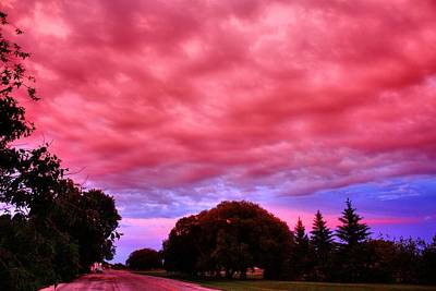 Photograph - Red Sky At Night by David Matthews