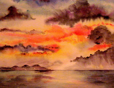 Painting - Red Sky At Night by Diane Kirk
