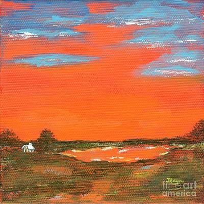Painting - Red Sky At Night by Itaya Lightbourne