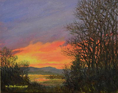 Painting - Red Sky At Night by Kathleen McDermott