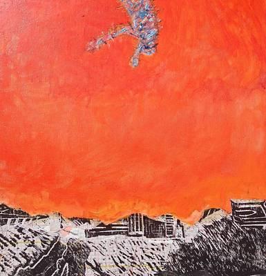 Ruins Mixed Media - Red Sky At Night by Michael Clague