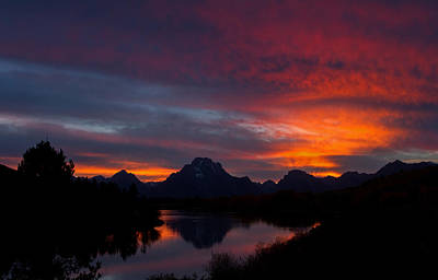 Photograph - Red Sky At Oxbow by Shari Sommerfeld