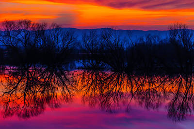 Photograph - Red Sky At Twilight by Garry Gay