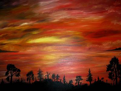 Red Sky Delight Art Print by Michael Schedgick