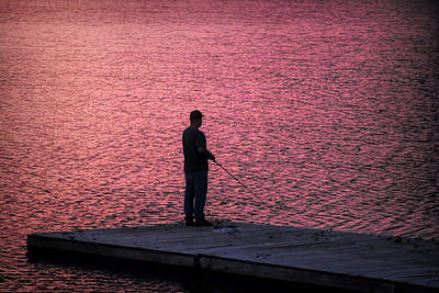 Photograph - Red Sky Fishing by Pat Cook