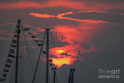 Photograph - Red Sky In Morning Sailors Warning by Dale Powell