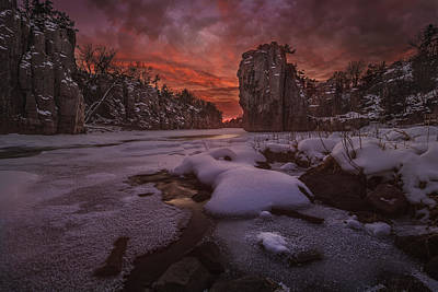 Photograph - Red Sky, King Rock  by Aaron J Groen