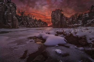 Red Queen Photograph - Red Sky, King Rock  by Aaron J Groen