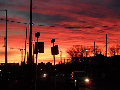 Photograph - Red Sky Morning by Mark Lehar