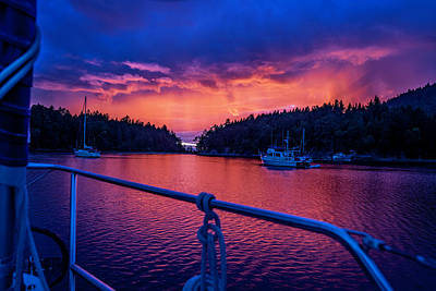Photograph - Red Sky Night  by Bob VonDrachek