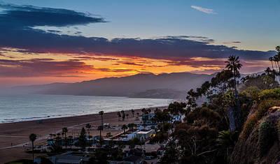Photograph - Red Sky Over Malibu by Gene Parks