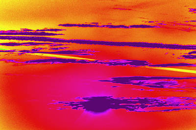 Digital Art - Red Sky by Rose  Hill