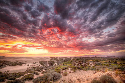 Dunes Photograph - Red Skys At Night by James ODonnell