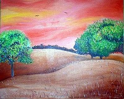 Danny Garcia Painting - Red Skys by Danny Garcia