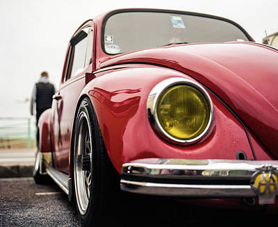 Photograph - Red Slammed Vw Beetle by Will Gudgeon