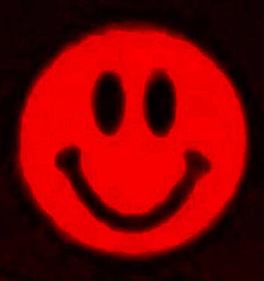 Photograph - Red Smiley by Rob Hans