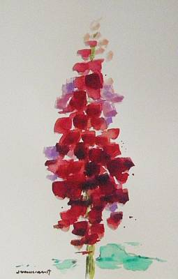 Painting - Red Snapdragon by John Williams