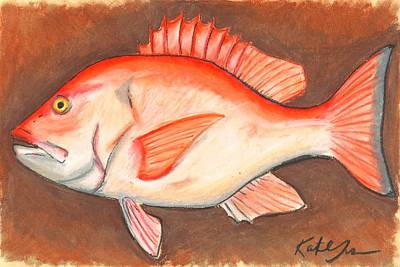 Pastel - Red Snapper by Katie Sasser