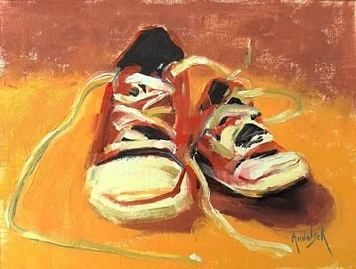 Painting - Red Sneakers by Barbara Andolsek