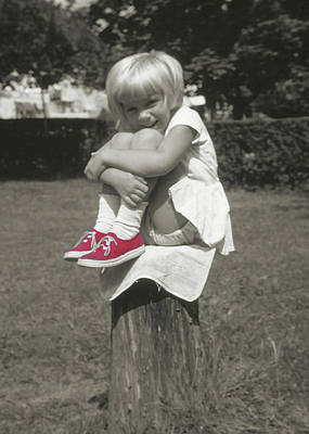 Photograph - Red Sneakers by JAMART Photography