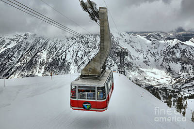 Photograph - Red Snowbird Tram Car by Adam Jewell