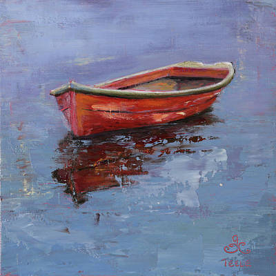 Painting - Red Solo by Trina Teele
