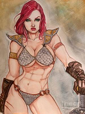 Red Sonja Art Print