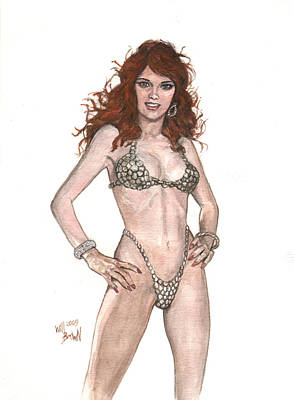 Red Sonja Pinup Art Print by Will Brown